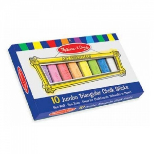 Мелки треугольные Melissa and Doug 4100 10 Jumbo Triangular Chalk Sticks  (4100)
