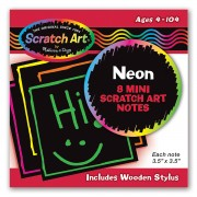 Неоновые миникарточки-царапки MD5841 Neon Mini Scratch Notes