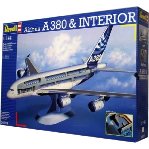 Аэробус (2005г., Герм./Великобрит./Франция/Исп.) Airbus A380 'Visible Interior' 1:144 (PS04259)